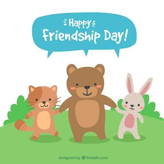 Dia de amizade com animais