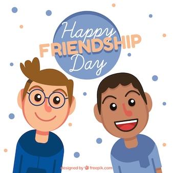 Dia do dia da amizade com dois meninos