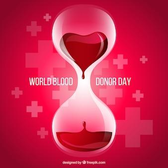 Dia doador de sangue de fundo