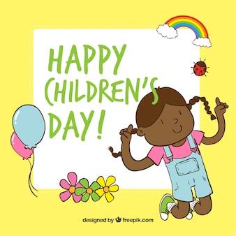 dia saudação dos desenhos animados para crianças