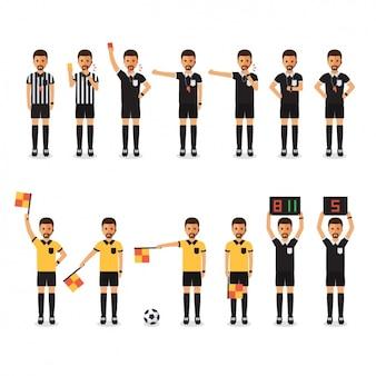 Diferentes árbitros dos jogos