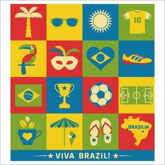 Diferentes elementos Brasil