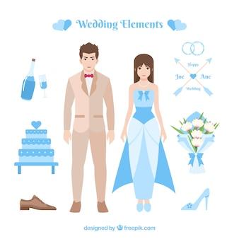 Diferentes elementos do casamento