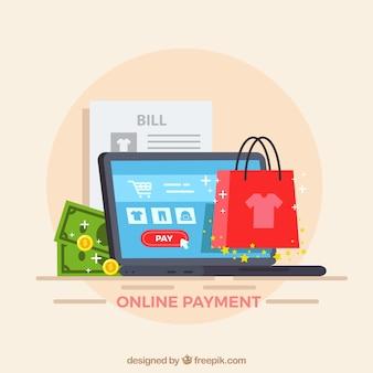 Diferentes itens sobre o pagamento eletrônico