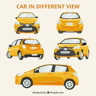 Diferentes vistas do carro moderno