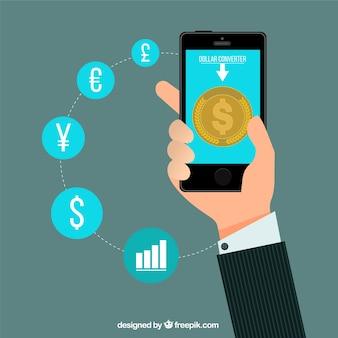 Dinheiro do negócio infográfico