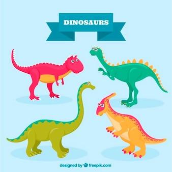 Dinossauros coloridas agradáveis