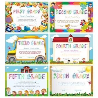 Diplomas de graduação para crianças