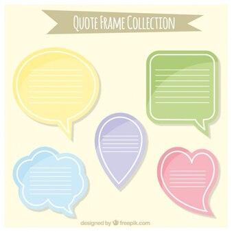 discurso colorido borbulha coleção