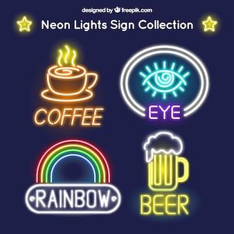 Diversos sinais de néon locais