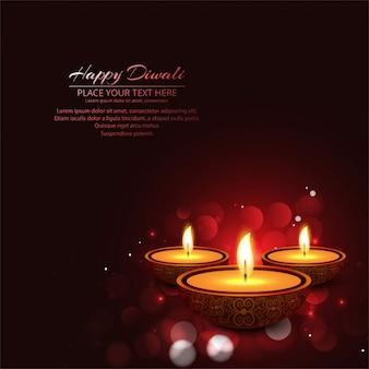 Diwali feliz fundo vermelho