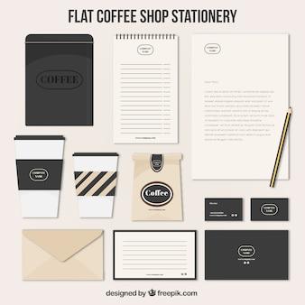 Do estilo do vintage dos artigos de papelaria de café