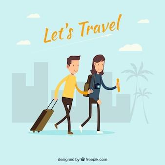 Dois turistas fundo