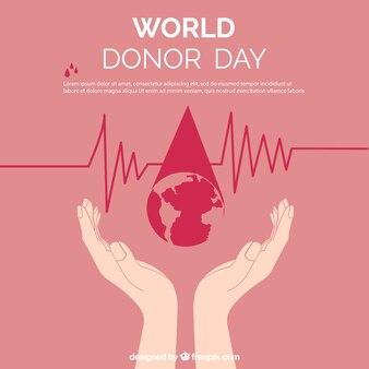 Donor fundo do dia com as mãos