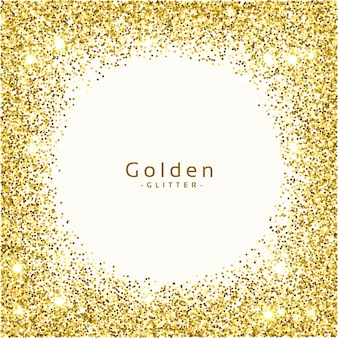 Dourado glitter frame background vector