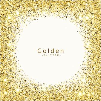 Dourado glitter frame background vector