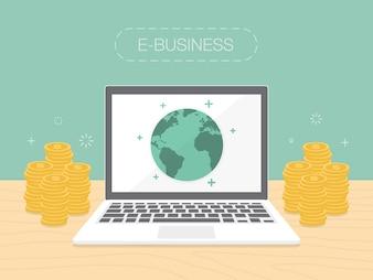 E-business projeto do fundo