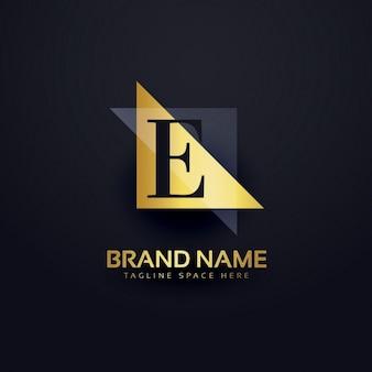 E logotipo da carta em estilo moderno