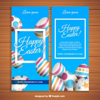Easter eggs banners