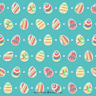 Easter engraçado padrão de ovos