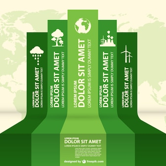 Eco infografia etiquetas projeto