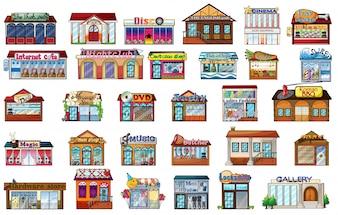 Edifícios diferentes