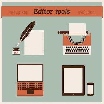 Editar ferramentas de design evolução