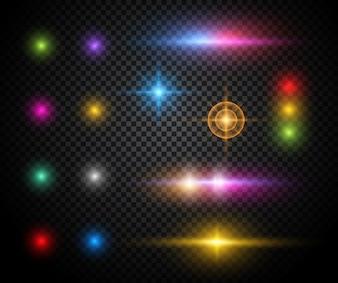 Efeitos de luz coloridos