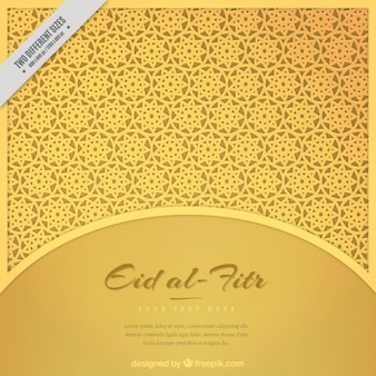 Eid-al-Fitr fundo dourado geométrica