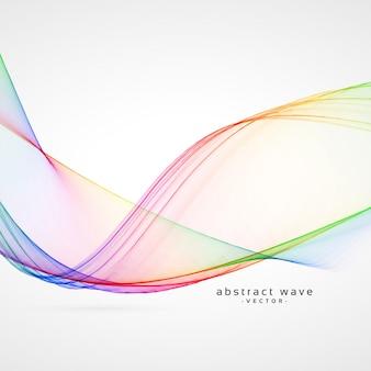 Elegante arco-íris cor abstrato onda vector background