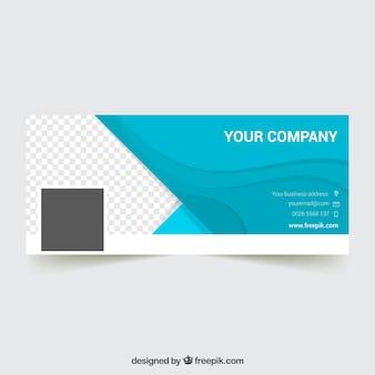 Elegante capa do Facebook para empresas