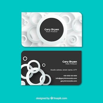 Elegante cartão corporativo com círculos brancos