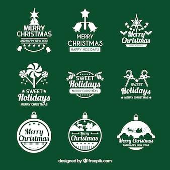 Elegante coleção de logotipos de natal