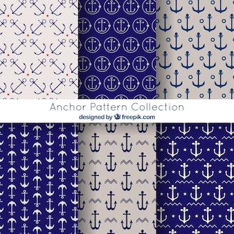 Elegante coleção de padrões de âncora