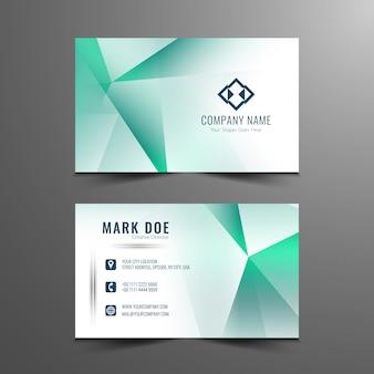 Elegante design de cartão de visita poligonal