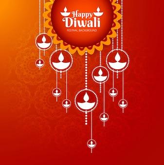 Elegante design de festival de diwali brilhante