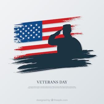Elegante design do dia dos veteranos