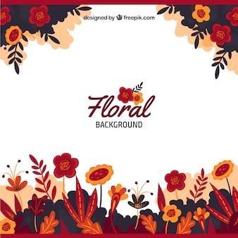Elegante fundo floral vermelho