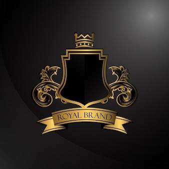 Elegante logotipo dourado