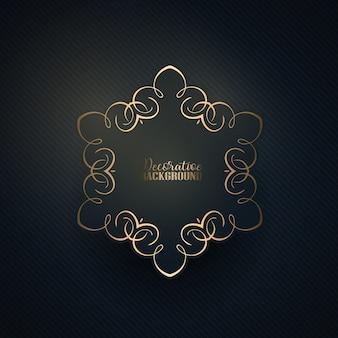 Elegante, ouro, Quadro, listrado, fundo