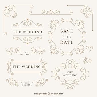 Elegantes elementos do casamento