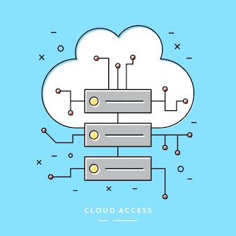 Elemento de vetor linear de acesso à nuvem