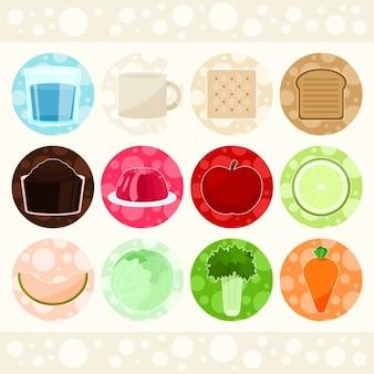 Elementos de alimentos de design