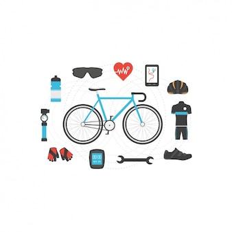 Elementos de ciclismo de design