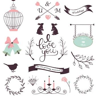 Elementos de design do casamento