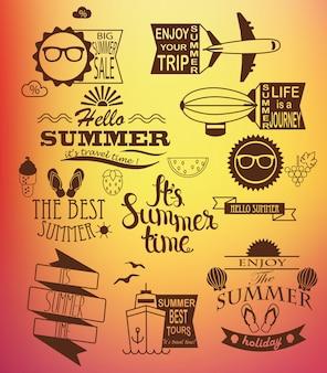 Elementos de design dos feriados de verão.