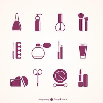 Elementos de salão de beleza