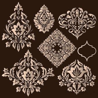 Elementos decorativos de design