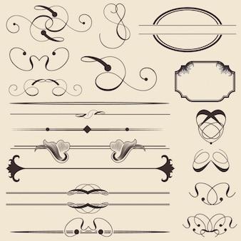 elementos decorativos delineadas