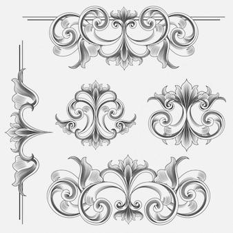 elementos decorativos do vintage